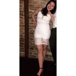 ✨ Charlotte Russe White Lace Dress Size S ✨
